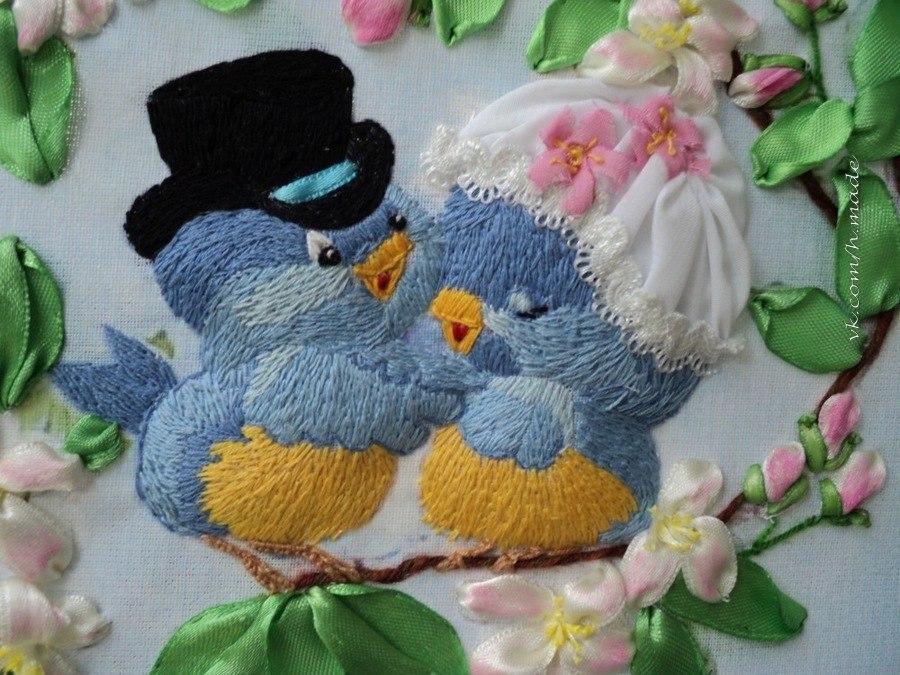 Птички -лентами