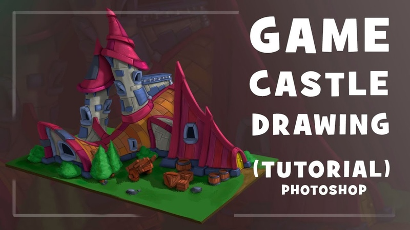 GAME CASTLE DRAWING | TUTORIAL | РИСУЕМ ИГРОВОЙ ЗАМОК