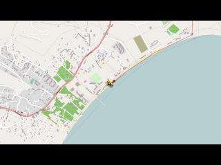 По карте на аэроплане. Крым - Коктебель - арТзаЛ