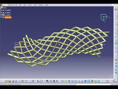 CATIA V5 Parametric Modeling - Roof Structure