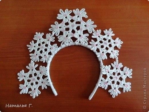 Схемы вязания снежинок можно