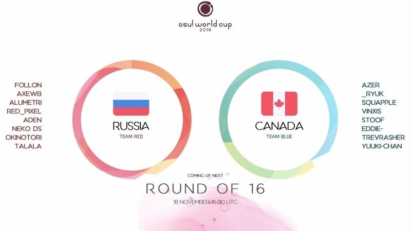 Osu! World Cup 2018: Round of 16: Russian Federation vs Canada
