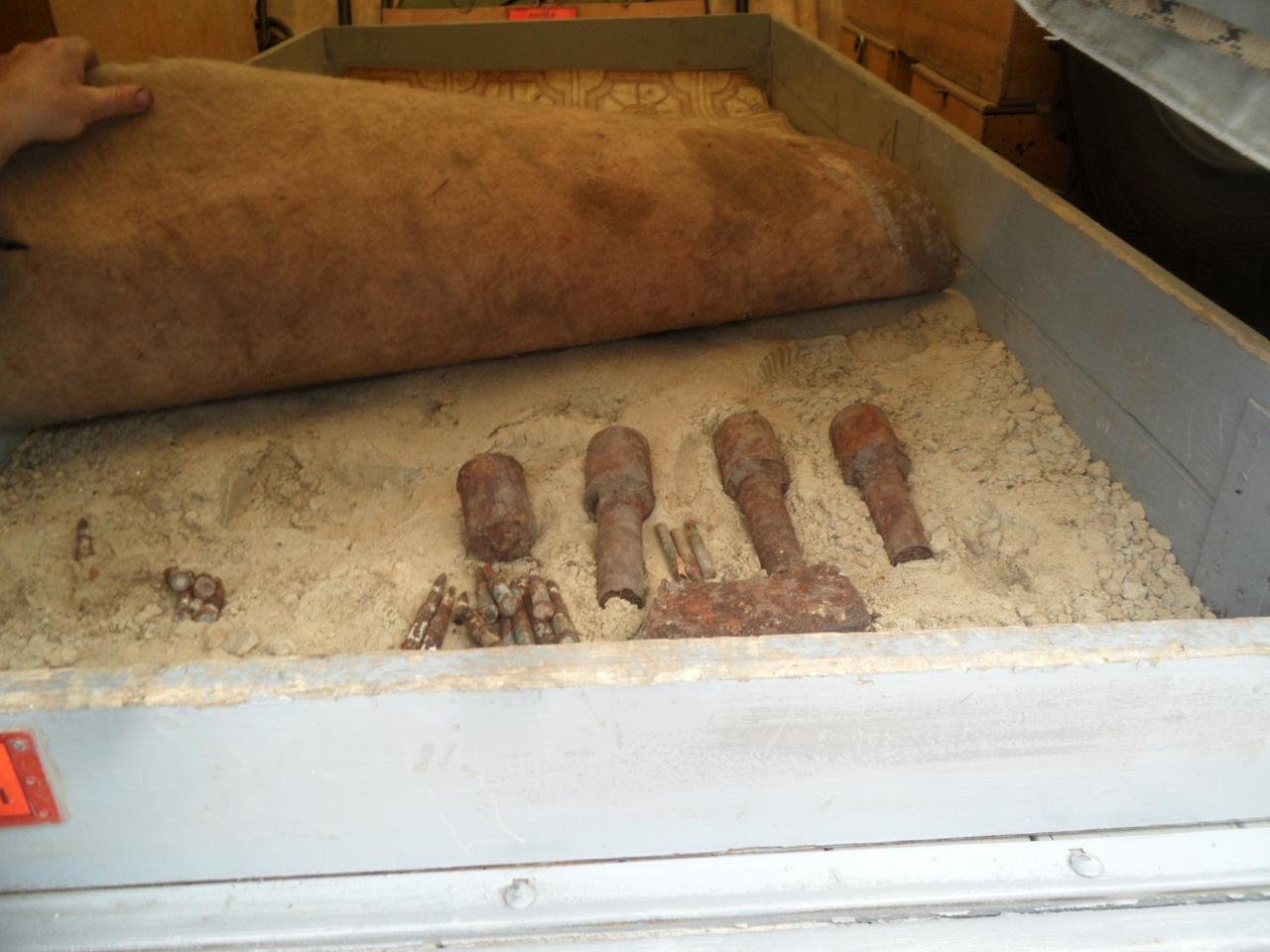 Под Курском обнаружили гранаты времён Великой отечественной
