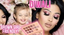 HAPPY DIWALI! | Huda Beauty New Nude Palette | Brown Girl Friendly | irenesarah