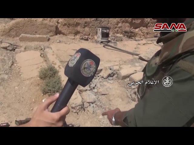 Сирийская арабская армия уничтожает террористов из Даиша на юго западной окраине Дейр Эз Зор