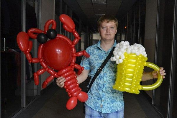 Подарки парню из шариков