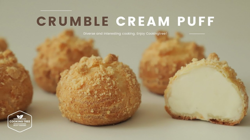Crumble Cream puff Choux