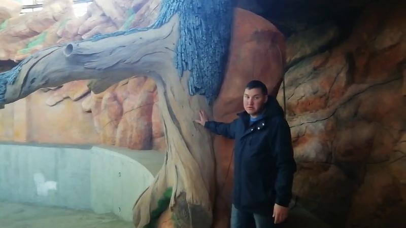 Казанский зоопарк Бегемотник Скала из бетона