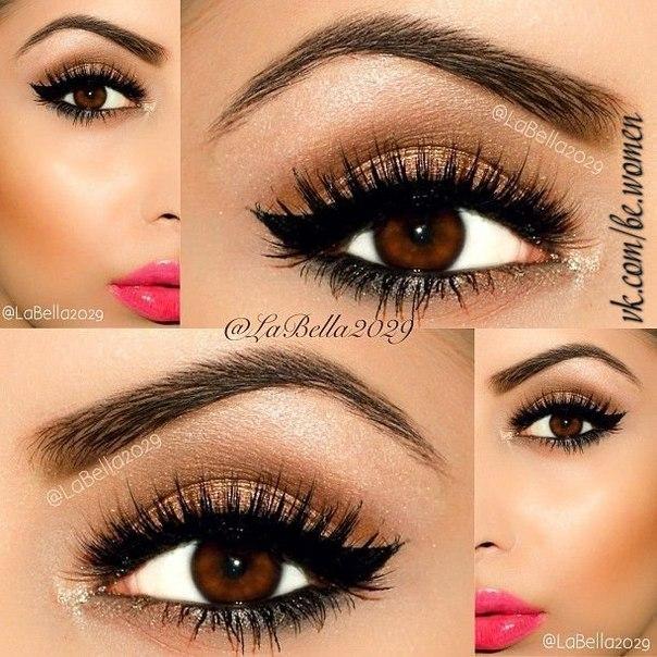 Красивые макияжи для карих глаз
