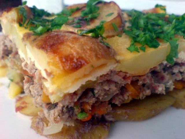 Запеканка из свинины и картофеля рецепты
