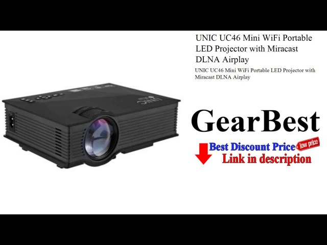 UNIC UC46 Mini WiFi Portable LED Projector with Miracast DLNA Airplay - gearbest.com