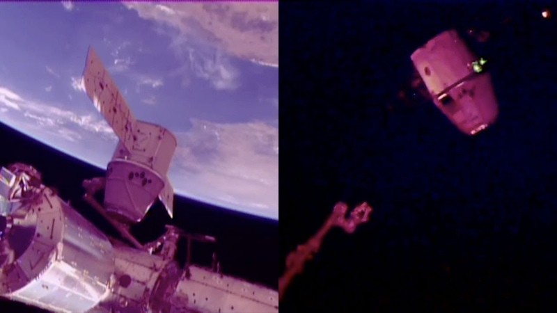 SpaceX CRS-15 Dragon departure from the ISS