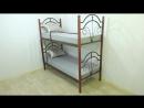 Металлическая кровать Диана на деревянных ножках двухъярусная
