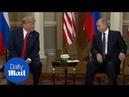 President Donald Trump winks at Vladimir Putin in Helsinki - Daily Mail