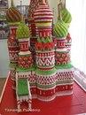 Собор Василия Блаженного.  Модульное оригами.