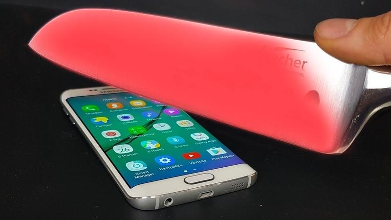 РАСКАЛЕННЫЙ НОЖ 1000 градусов VS Samsung Galaxy S6 edge