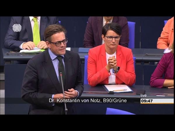 Konstantin von Notz : Herr Braun von der AFD Sie gehören vom Verfassungsschutz beobachtet!