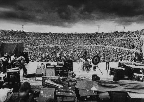 Концерт Led Zeppelin в Мельбурне, Австралия, 1972 год.
