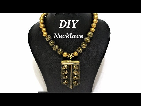 DIY Easy To Make Polymer Clay Necklace | Jewelry Making Tutorial