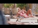 Nicolette Shea and Casey Calvert lesbian poolside