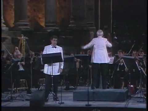 Placido Domingo - Lenskys Aria (Eugene Onegin) orchestra conductor Mstislav Rostropovich