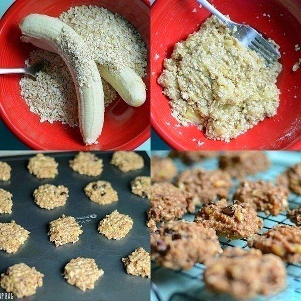 ХРУСТЯЩАЯ БАНАНОВАЯ РАДОСТЬ готовится за 10 минут! Очень вкусные печеньки к чаю 😃 Ингредиенты: - 2 банана - 1 стакан.. Смотреть рецепт полностью.. »