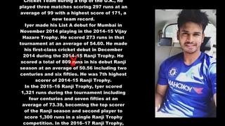 Shreyas Iyer Indian Cricketer Biography With Detail