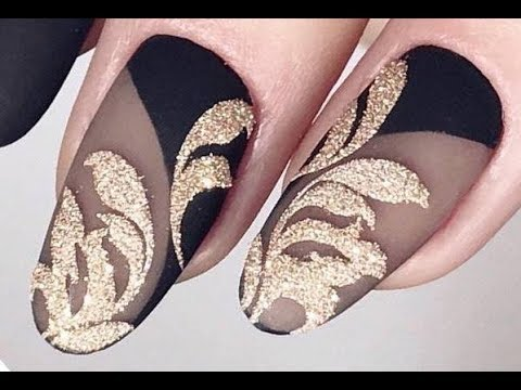Top 10 Elegant Nail Art Designs | The Best Black and Gold Nail Art Tutorials Compilation 271