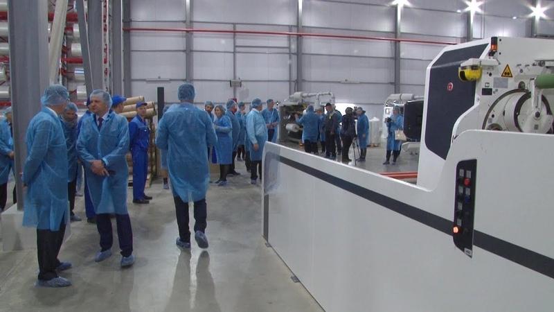Десна-ТВ: На Десногорском полимерном заводе запущен новый цех по производству пищевой пленки