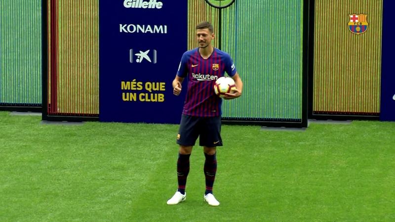 Clément Lenglet pisa por primera vez el césped del Camp Nou con la camiseta del Barça