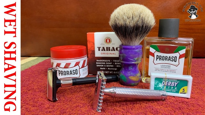 💈 Экспериментальное бритье: Muhle R41 vs Feather Popular Derby Razor, DScosmetic, Proraso