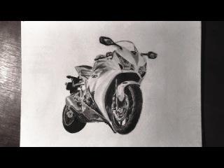 Honda CBR 1000rr Charcoal & Graphite Drawing