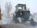 Запуск трактора ЮМЗ с пускача при морозе