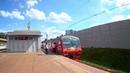 ЭД4М 0148 85 лет Моторвагонному депо Раменское отправляется от платформы Отдых