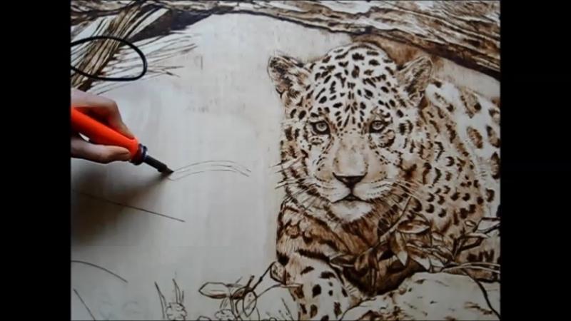 Леопард-выжигание