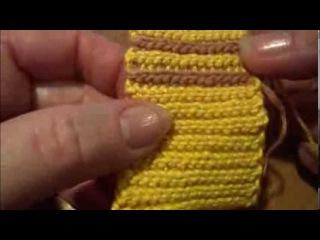 Боснийское вязание Резинка 1х1