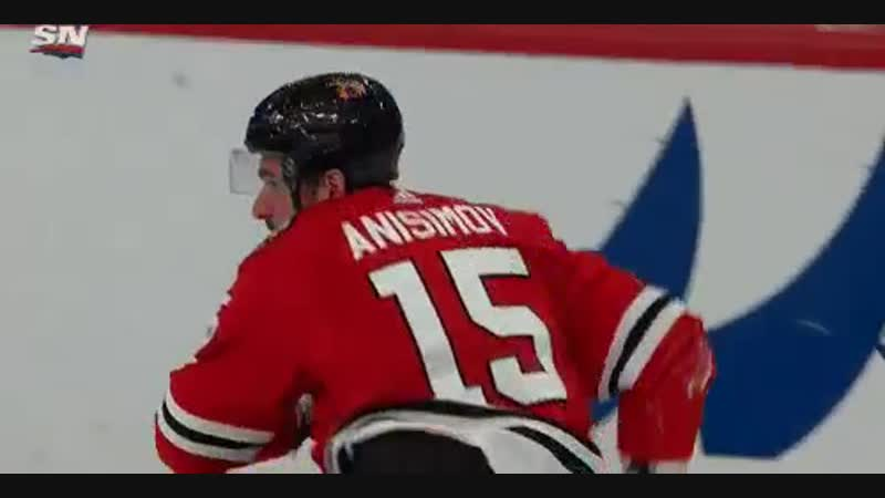 Artem Anisimov has had better shifts getting rocked by Shea not once but twice