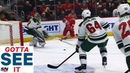 GOTTA SEE IT Mikael Granlund Bails Out Devan Dubnyk With Goal Saving Defence