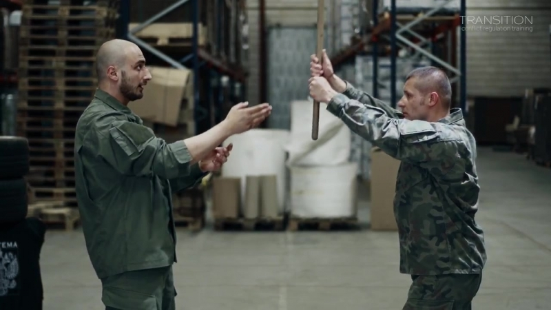 Systema Basics of unarmed defense against stick attack