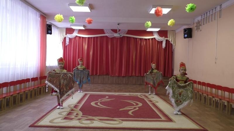 дс 136 с платкамиТанцевальный коллектив Сударушка Номинация народный танец