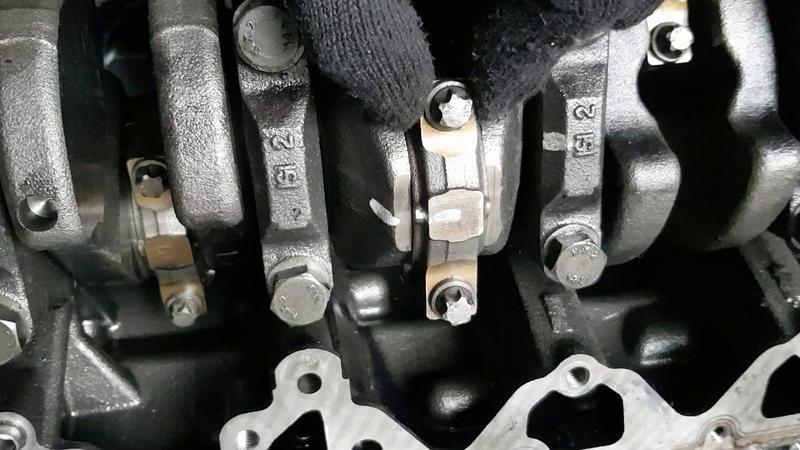 Износ шатуного вкладыша мотора м57n
