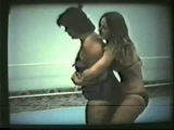 Lady Ring Wrestling - Fat Lady vs Skinny Blonde Bikini Girl (silent)