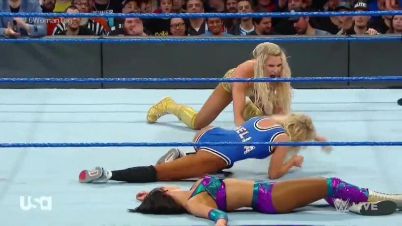 Video@carmelladaily SmackDown Live 02 мая 2018 Кармелла Ройс и Кей против Флэр Линч и Аски
