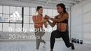 20 min HIIT Buddy Workout with Jaws Sharika adidas women workouts