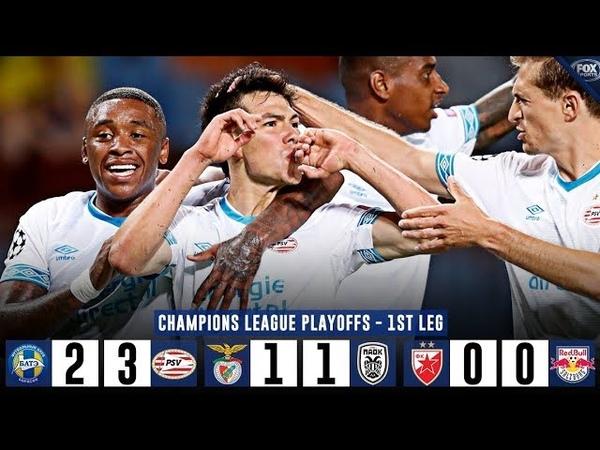 Футбол Лига Чемпионов 2018 2019 Квалификация Раунд плей офф Результаты Расписание