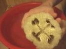 Как придать форму цилиндра сплющенной люффе