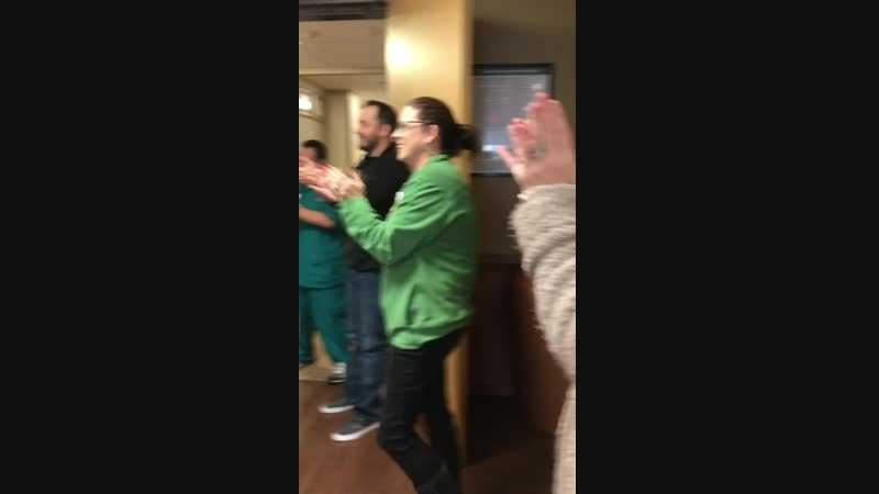 My mom finished all her cancer treatments today, and got to ring the bell. I am so proud of her❤️