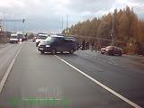 ВАЗ-2115 опрокинулась на крышу в результате ДТП в Цивильске