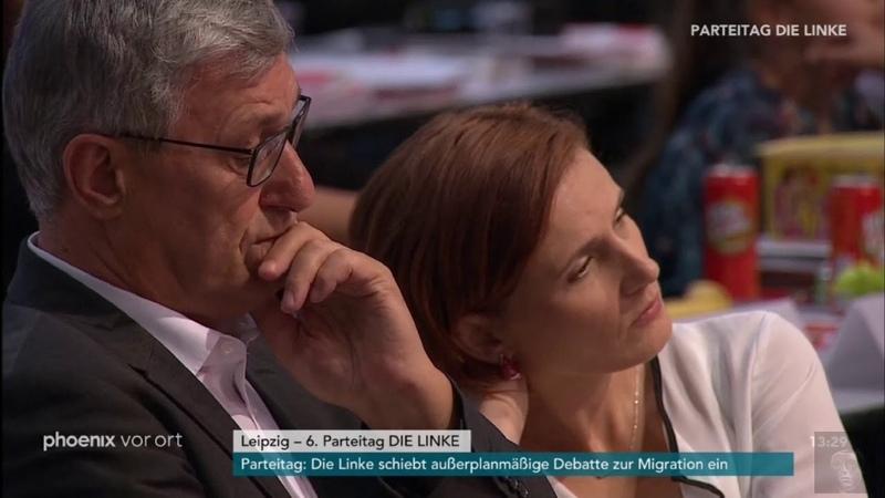 Tumulte nach Rede von Sahra Wagenknecht (Linke): Mitglieder fordern Rücktritt (10.06.2018)