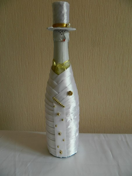 Украсит шампанское на свадьбу своими руками